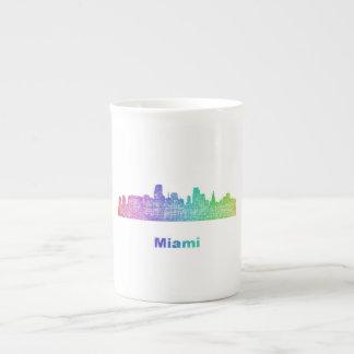 Rainbow Miami skyline Tea Cup