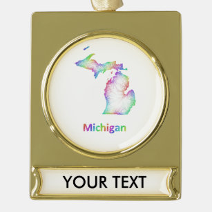 Gold In Michigan Map.Map Of Michigan Ornaments Keepsake Ornaments Zazzle