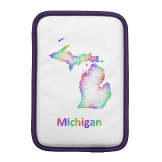 Rainbow Michigan map Sleeve For iPad Mini
