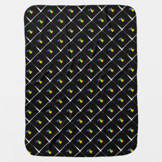 Rainbow Michigan Patterned Baby Blanket