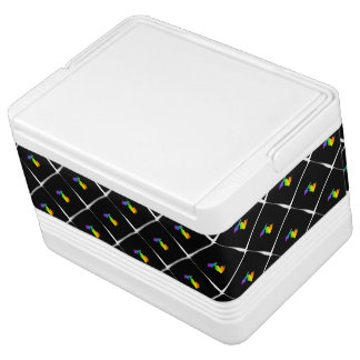 Rainbow Michigan Patterned Cooler