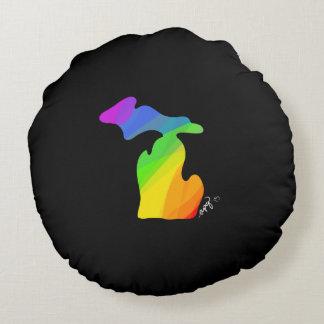 Rainbow Michigan Throw Pillow