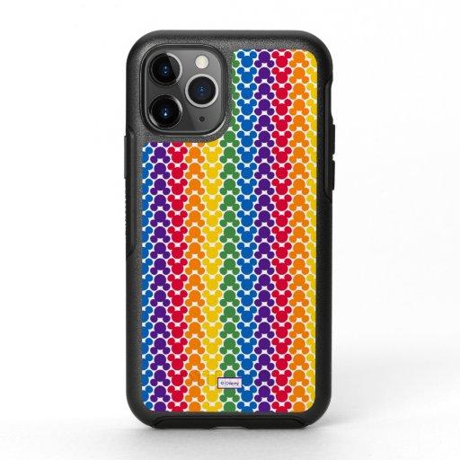 Rainbow Mickey Icon Pattern OtterBox Symmetry iPhone 11 Pro Case