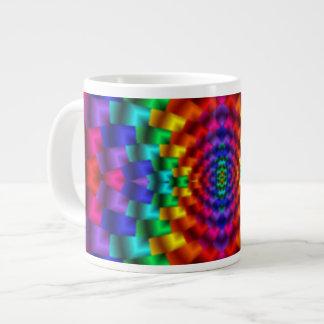 Rainbow Mind Warp Psychedelic Fractal 20 Oz Large Ceramic Coffee Mug