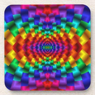 Rainbow Mind Warp Psychedelic Fractal Coaster