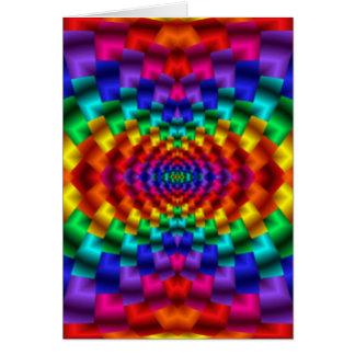 Rainbow Mind Warp Psychedelic Fractal Greeting Card