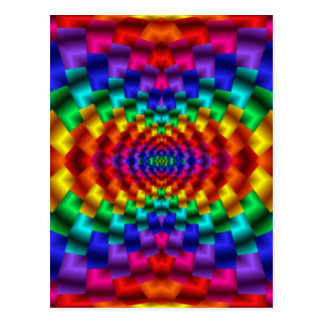 Rainbow Mind Warp Psychedelic Fractal Post Cards
