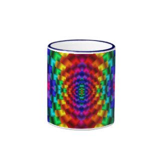 Rainbow Mind Warp Psychedelic Fractal Ringer Coffee Mug