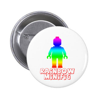 Rainbow Minifig by Customize My Minifig Pinback Buttons