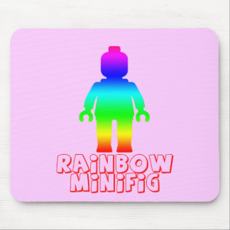 Rainbow Minifig by Customize My Minifig Mouse Pad