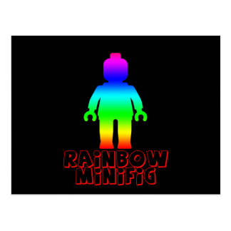 Rainbow Minifig by Customize My Minifig Postcard
