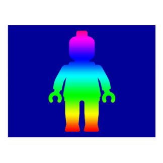 Rainbow Minifig by Customize My Minifig Postcard