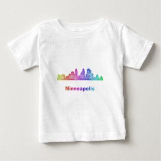 Rainbow Minneapolis skyline Baby T-Shirt