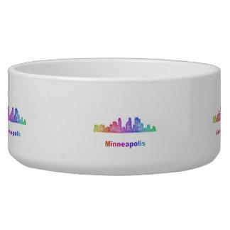 Rainbow Minneapolis skyline Bowl