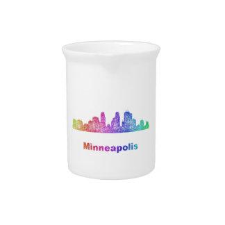 Rainbow Minneapolis skyline Pitchers