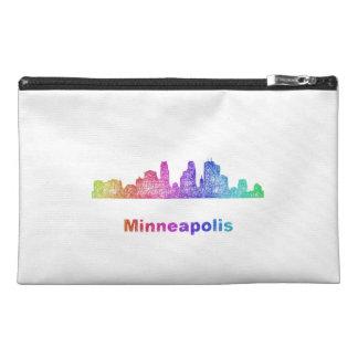 Rainbow Minneapolis skyline Travel Accessory Bag
