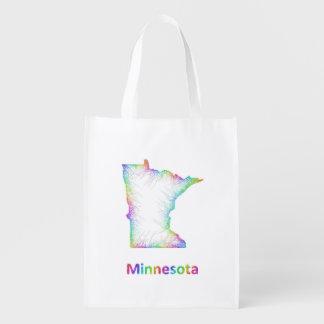 Rainbow Minnesota map Grocery Bag