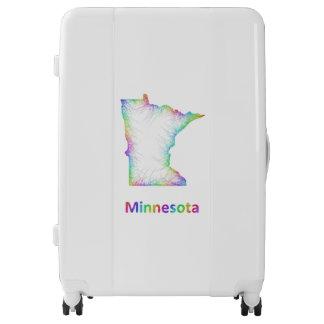 Rainbow Minnesota map Luggage
