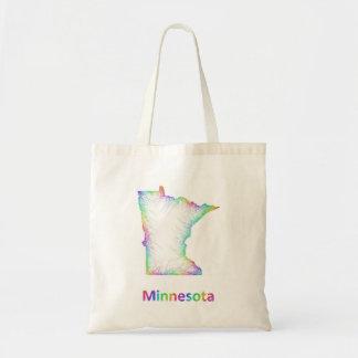 Rainbow Minnesota map Tote Bag
