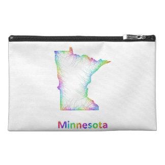 Rainbow Minnesota map Travel Accessory Bag