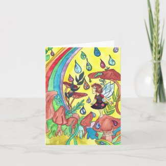 Rainbow Miracle Fairy Greeting Card