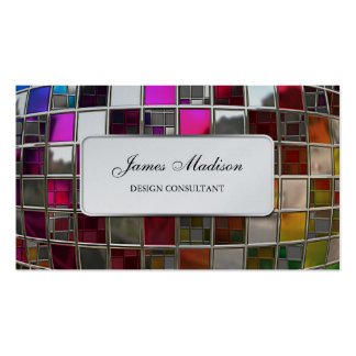Rainbow Mirror Sequence Double-Sided Standard Business Cards (Pack Of 100)