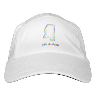 Rainbow Mississippi map Hat