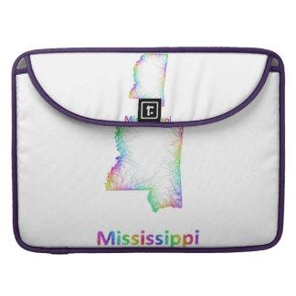 Rainbow Mississippi map MacBook Pro Sleeve
