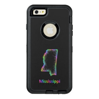 Rainbow Mississippi map OtterBox Defender iPhone Case