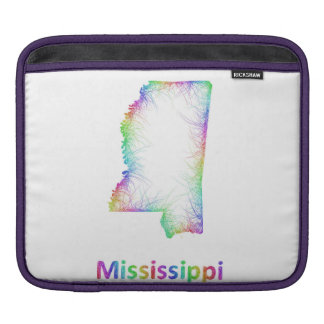 Rainbow Mississippi map Sleeve For iPads