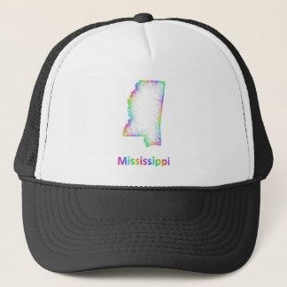 Rainbow Mississippi map Trucker Hat