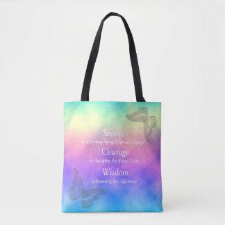 [Rainbow Mist] Butterflies Serenity Prayer Tote Bag
