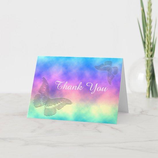[Rainbow Mist] Butterflies ThankYou Thank You Card