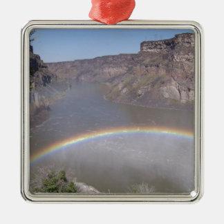 Rainbow Mist Square Metal Christmas Ornament
