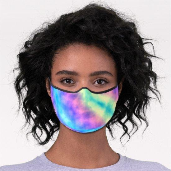 [Rainbow Mist] Pastel Tie-Dye Premium Face Mask