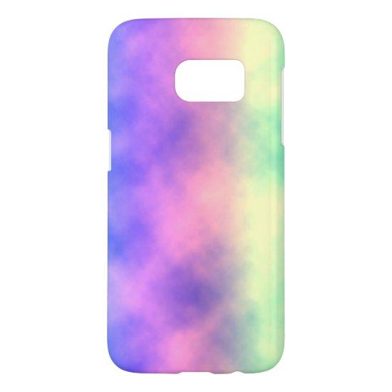 [Rainbow Mist] Pastel Tie-Dye Samsung Galaxy S7 Case