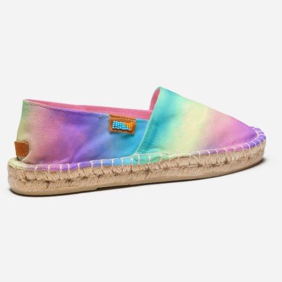 [Rainbow Mist] Pastel Tie-Dye Stripes Espadrilles