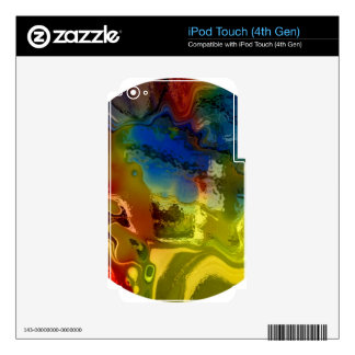 Rainbow mix 1 decals for iPod touch 4G