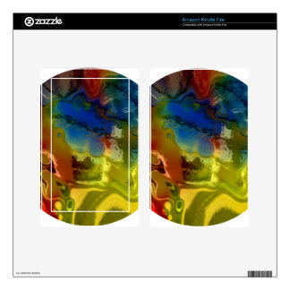 Rainbow mix 1 skin for kindle fire