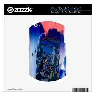 Rainbow mix 2 decal for iPod touch 4G
