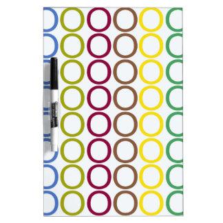 Rainbow Mixed Splash of O's Dry-Erase Board