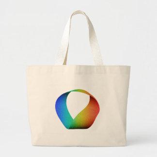 Rainbow Mobius Strip Canvas Bags