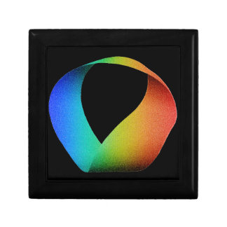 Rainbow Mobius Strip Jewelry Boxes