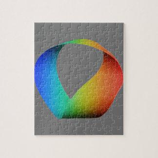 Rainbow Mobius Strip Puzzle