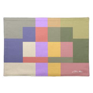 Rainbow Modern Art 3 Cloth Placemat