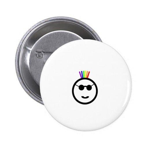 Rainbow mohawk 2 inch round button