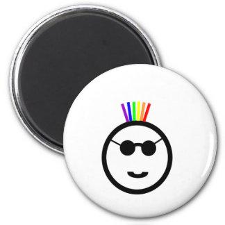 Rainbow mohawk magnet