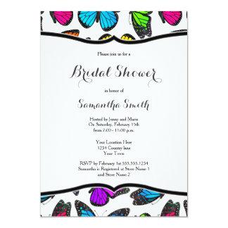 Rainbow Monarch Butterflies Bridal Shower Invite