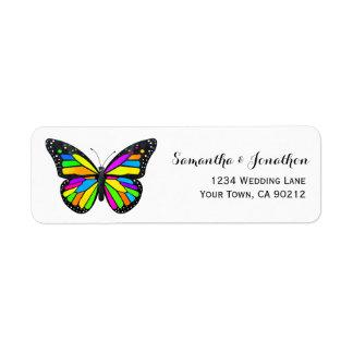 Rainbow Monarch Butterfly Label