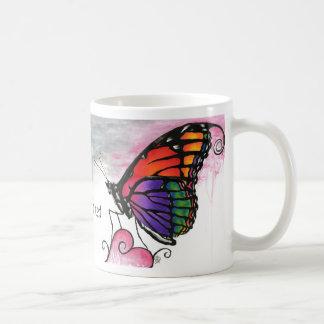 Rainbow Monarch Butterfly Original Fantasy Art Coffee Mug